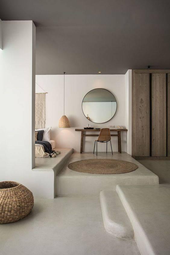 Petite Lily Interiors Tapis rond toile de mendong - naturel - Ø160cm