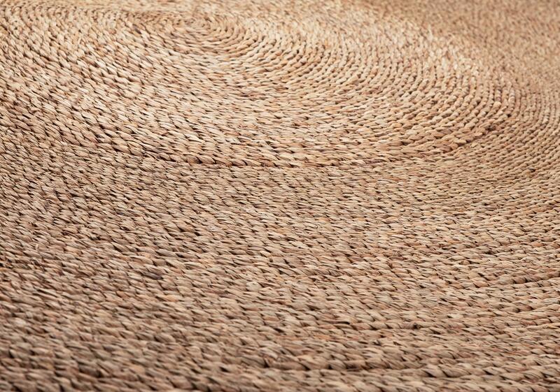 Petite Lily Interiors Alfombra Redonda de mendong - natural - Ø160cm