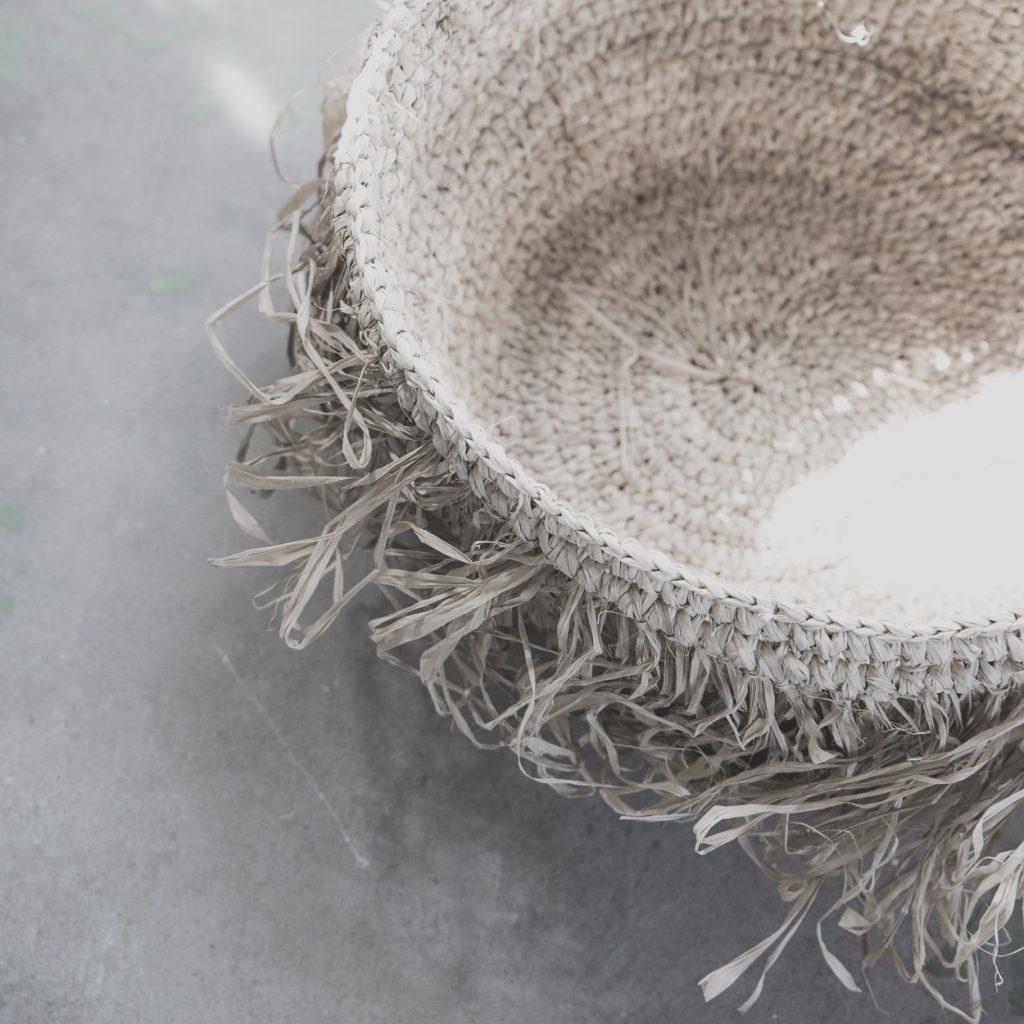 Petite Lily Interiors Set de 3 paniers - Raphia - naturel