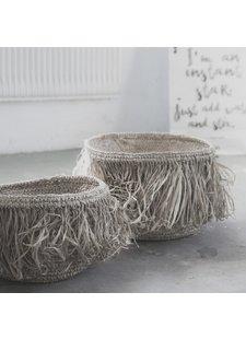 Petite Lily Interiors Juego de 3 cestas de rafia - Natural