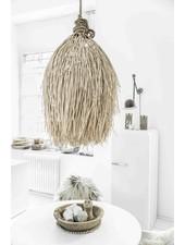 Petite Lily Interiors Lámpara de techo en rattan Shaggy - natural - Ø60xH90