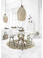 Petite Lily Interiors Lámpara de techo en rattan Shaggy - natural - Ø45xH75