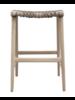 Uniqwa Furniture  Taburete alto de jardin Annika - natural / topo - 52x42xh69cm - Uniqwa Furniture