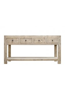 Petite Lily Interiors Console table vintage w/ 4 drawers - L170x45xh85cm