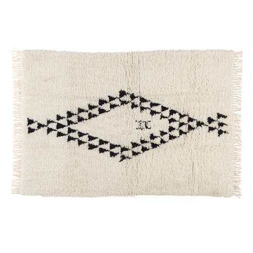 Petite Lily Interiors Tapis Berbère - blanc noir - 200x300cm