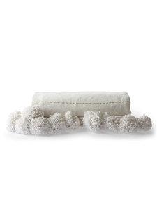 HK Living Couverture / Plaid Marocain avec pompons - blanc / Or - 130x170cm
