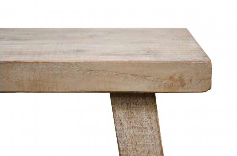 Petite Lily Interiors Stool- recycled elm wood - 40x32xh56cm - natural - Unique Item