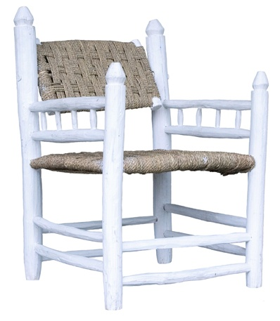 Household Hardware Set of 2 Chairs Morrocan white wood - Outdoor - House Hold Hardware