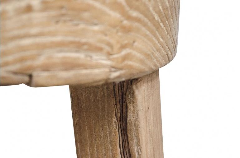 Petite Lily Interiors Taburete alto redondo Natural - madera de cruda - ø35xh 70cm - pieza unica