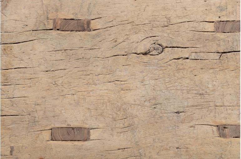 Petite Lily Interiors Tabouret 'Selle' en bois d'orme - 40x22xh50cm - naturel - unique piece
