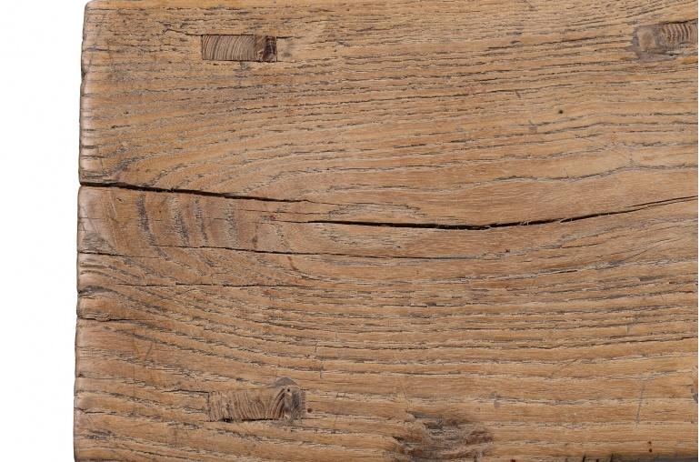 Petite Lily Interiors Taburete 'Silla inglesa' de Madera de olmo - 40x22xh50cm - natural - pieza única