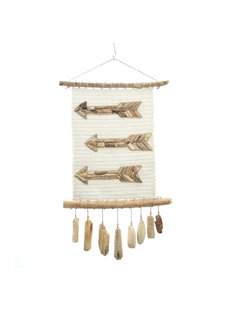 Petite Lily Interiors Wall Hanger white 'arrow' - 40xh80cm