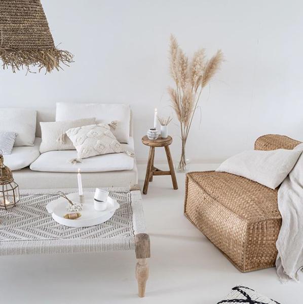 Petite Lily Interiors Chaise Lounge jardín 'Resort' - Jacinthe d'eau naturel - 100xh63cm