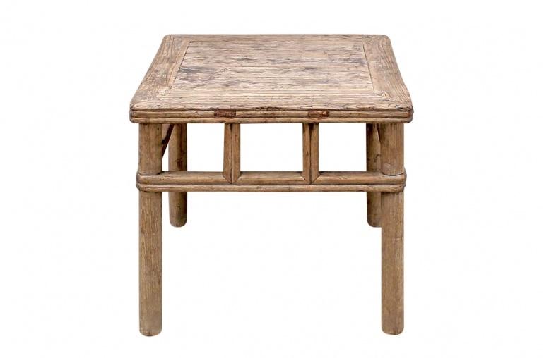 Table basse vintage - 62x63xh51cm - Bois d'orme
