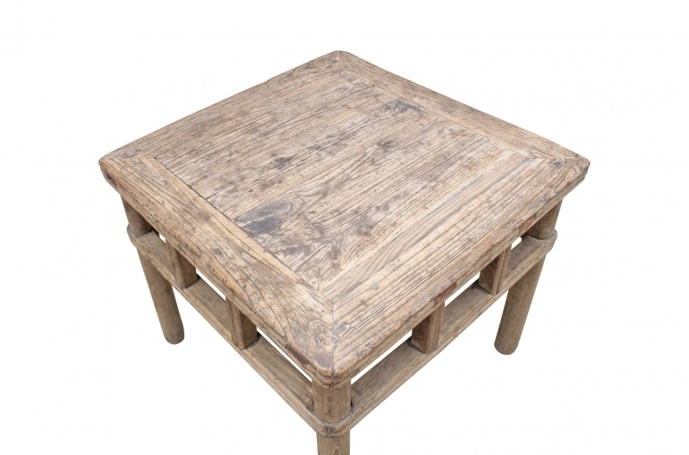 raw wood coffee table - elm wood - 62x63xh51cm