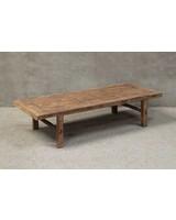 Table basse naturelle XL - 186x73xh40cm - Cyprès brut