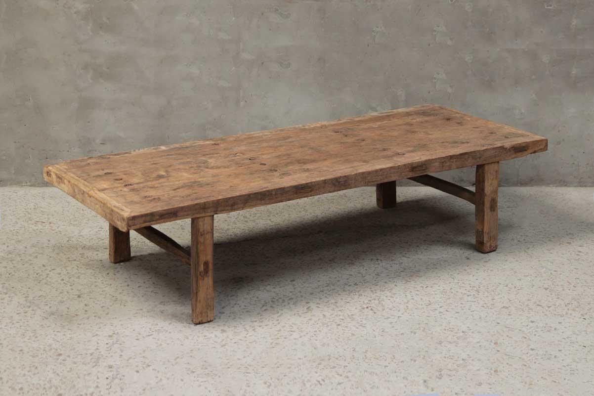 Petite Lily Interiors Table basse naturelle XL - 186x73xh40cm - Cyprès brut