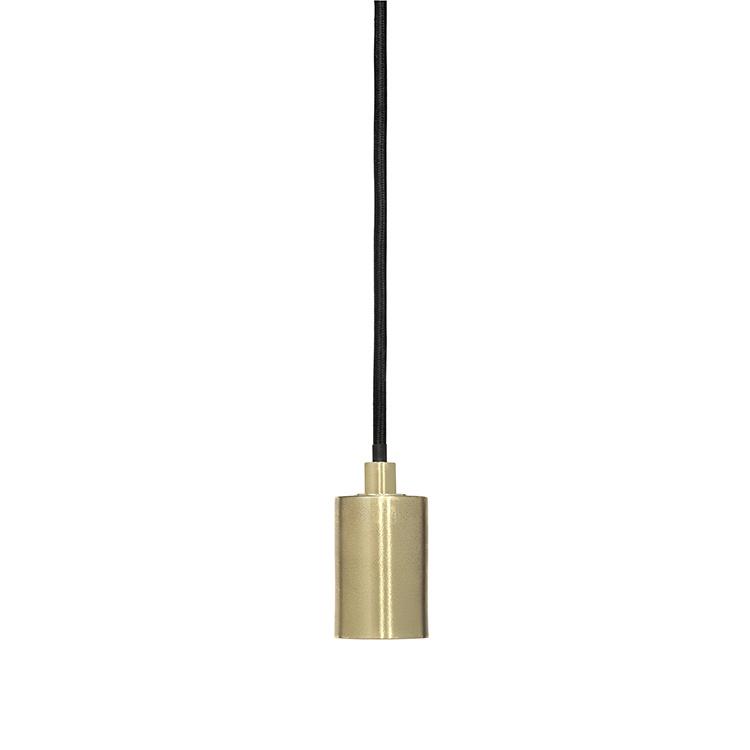 Broste Copenhagen Lámpara Suspensión 'Gerd' - Cable / Zócalo de latón - Ø4Xh6,5cm - Broste Copenhagen