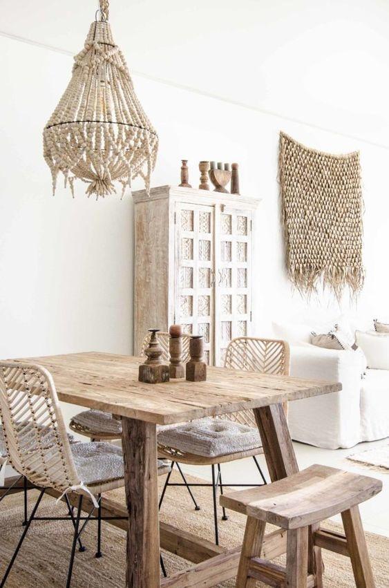 HK Living Armoire Cabinet Ethnique - 105x40xH180cm - blanc cassé - HK Living