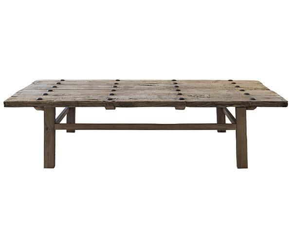 Snowdrops Copenhagen Table bois avec plateau vieille porte - 180x75xh45cm