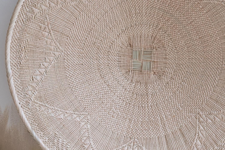 Petite Lily Interiors Panier mural Tonga XL - naturel - Ø57-60cm