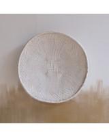 Petite Lily Interiors Panier mural Tonga XL - blanc - Ø41-45cm