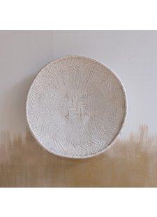 Petite Lily Interiors Panier mural Tonga M- blanc - Ø41-45cm