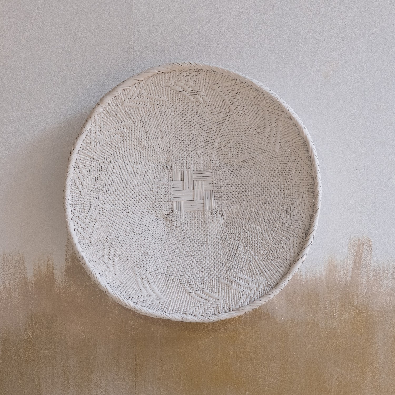 Petite Lily Interiors Panier mural Tonga M - blanc - Ø41-45cm