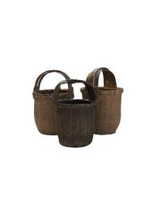 Petite Lily Interiors Baskets vintage in rattan - 40x40cm - Unique item