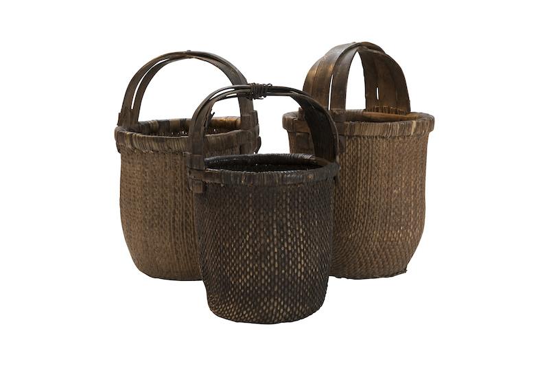 Petite Lily Interiors Baskets vintage in rattan - 40x40cm - Unique item