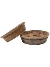 Petite Lily Interiors Vasque/Bowl Vintage en bois brut - Ø65 x 15H cm - Piece Unique