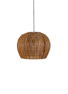 Ay Illuminate Suspension Bell Buri en rotin - naturel - Ø63xh47cm - Ay Illuminate