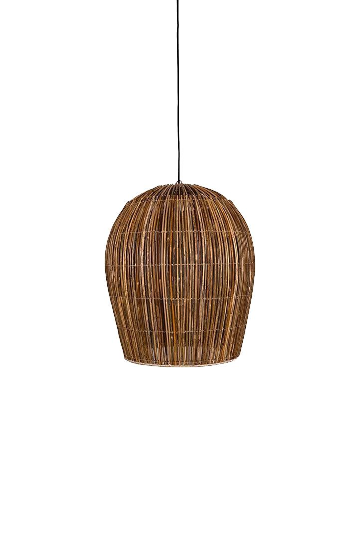 Ay Illuminate Suspension Bulb en rotin - naturel - Ø54xh63cm - Ay Illuminate