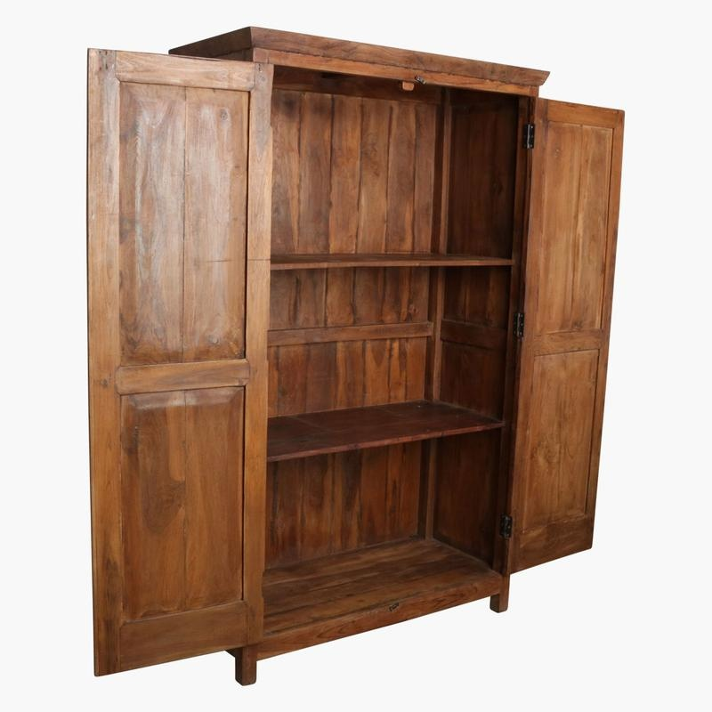 Cabinet in recycled teak - h180x110cm