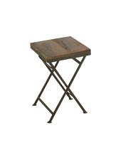 Tabouret pliant Bistro - bois & métal - L30xW30xH45cm
