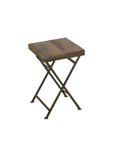 Petite Lily Interiors Factory folding bistro stool - L30xW30xH45cm