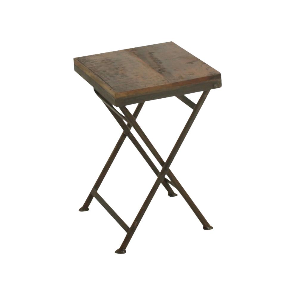 Factory folding bistro stool - L30xW30xH45cm