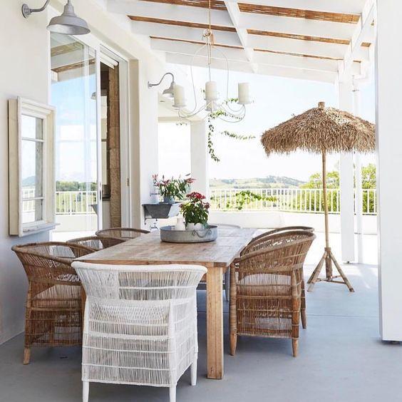 Petite Lily Interiors Chaise Malawi - Bohème Chic - 70-75x60xH75-80cm - naturel