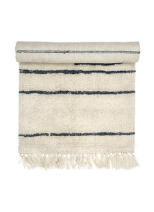 Bloomingville Tapis en laine scandinave - blanc/gris - L120x60 cm - Bloomingville