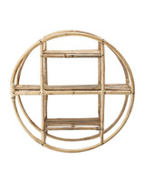 Bloomingville Bookcase - Bamboo - nature - Ø52xH20cm - Bloomingville