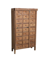 Petite Lily Interiors Factory cabinet 27-drawer - teak - 86x5xH153cm - Unique Piece