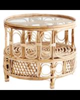 Madam Stoltz Bamboo coffee table Boho Chic - D65x53 cm - Natural - Madam Stoltz