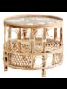 Madam Stoltz Table basse Bambou Boho Chic - D65x53 cm - Natural - Madam Stoltz