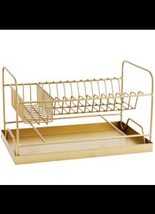 Madam Stoltz Dish rack w/ tray - Natural - Madam Stoltz