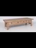 Mesa de salon de madera cruda con 4 cajones - 120x63xh45cm - Madera de olmo