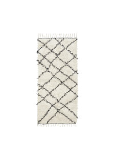 House Doctor Tapis Scandinave Ethnique 'Ribas' - Ivoire gris - 90x200cm - House Doctor