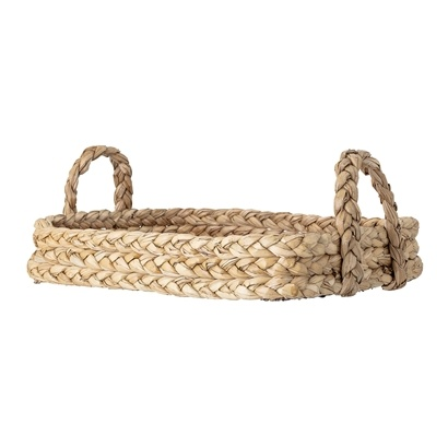 Bloomingville Tray / Bread Basket - Nature - Water hyacinth - L56xH19xW42 - Bloomingville