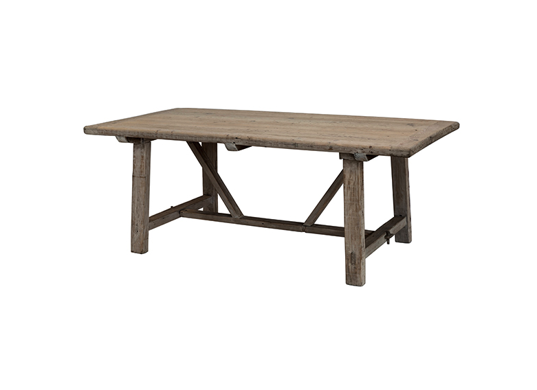 Snowdrops Copenhagen Dining room table recycled elm wood - 200x100xh78H - unique piece