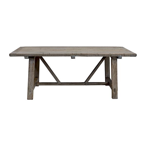 Snowdrops Copenhagen Table de salle à manger bois d'orme - 200x100xh78H - Piece Unique