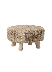 Bloomingville Stool round in wood with jute  - Ø60xH33 cm - Bloomingville